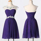 PURPLE RED BLUE Short Prom Homecoming Masquerade Gowns Party Evening Dress PLUS
