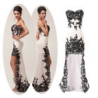FISHTAIL DESIGN Formal Evening Banquet Party Wedding Quinceanera Prom LACE Dress