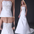 New White/Ivory Wedding Dress Bridal dress Custom size 2 4 6 8 10 12 14 16