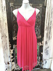 Noa Noa Dress, Danish, Dark Coral pink, Summer cocktail, RRP $225, NWT