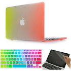 """3item Rainbow Design Rubberized Case Cover Skin for Macbook Air Pro 11"""" 13"""" 15"""""""