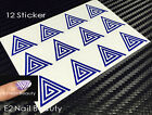 12 x Triangle Swirl Spiral Nail Stencil Guide Vinyl Decal Sticker FREE SHIPPING