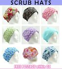 Hand Made Nurse Theatre Scrub Surgical Chemo Hats Caps (one size fits most)