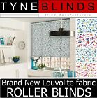 **New Louvolite fabric DITSY made to measure ROLLER BLINDS - straight bottom