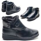 WOMENS LADIES BLACK BOOTS WOMENS VELCRO FASTENING ZIP ANKLE SHOES BOOTIES SIZE