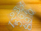 2 x Self Adhesive Stick on PEARL Numbers Gems Table Numbers, Wedding Decoration