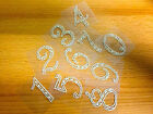 2 x Self Adhesive Stick on Pearl Numbers Gems Table Numbers