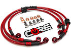 YAMAHA YZF R1 2009-2014 STEEL BRAIDED FRONT AND REAR BRAKE LINES TRANSLUCENT RED