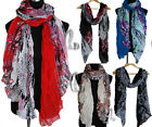 AU SELLER BOHO Soft flower Print Wrap SCARF/SHAWL Beach Sarong Cover Up sc033