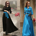 Kaftan Abaya Islamic Muslim Cocktail Boho Womens Long Sleeve Long Maxi Dress
