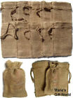 "Burlap Bags 2"" X 3"" 5-12-25-50-100 Gift Bags Favor Bags Wedding Bridal Party"