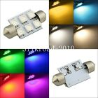 2PCS 36MM LED MULTI-COLOR 6-SMD Festoon Dome Interior Light Bulb car lamp dc 12V