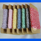 Cotton Twine Cord 8-Ply Thread Macrame Rope Jewelry Beading String Gift Packing