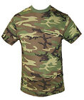 PLAIN GREEN AND BROWN CAMOUFLAGE ARMY T-SHIRT TOP