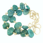 Gemstone Bracelet Russian Amazonite Scrolly14K Gold Filled or Sterling Clasp USA