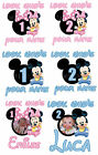 MINNIE MICKEY MOUSE BABY BIRTHDAY AGE IRON ON TSHIRT HEAT TRANSFER PHOTO LOT MP