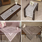 Decorative Raschel Table Runners,Table Toppers in White, Beige Pink
