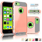 Gold Hybrid Rugged Impact Rubber Matte Hard Case Cover Skin For Apple iPhone 5C