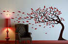 Tree With Leaves Blowing In The Wind Wall Stickers Decal Decor 90cm x 130cm UK