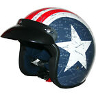 LEOPARD LEO-604 Motorbike Helmet Open Face Scooter Motorcycle Crash USA