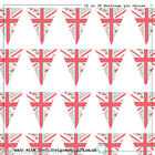 15 or 30 Edible Union Jack Shabby Chic  Bunting Cake   Cupcake Topper