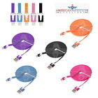 3x 6FT Flat Noodle USB Cable Data Sync Charger Cord Fit iPhone 6 Plus 5S 5C 5