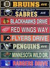"NHL Hockey Ave Drive Street Sign 4""x24""- Pick Team $3.5 USD on eBay"