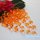 10mm 4CT Orange Acrylic Diamond Confetti Wedding Party Decoration Table Scatters