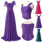 Fairy tale princess Blue Formal long Prom Party dresse Gown Bridal Evening Dress