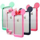For iPhone 4S/5S/6 SOFT SILICONE BUMPER TPU SKIN CASE COVER MICKEY MOUSE EARS