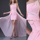 UK OFFER Long Sexy Bridesmaid Formal Ball Gown Party Cocktail Evening Prom Dress