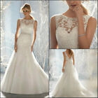 2015 New White/ivory Wedding Dress Bridal Gown Custom Size 6-8-10-12-14-16