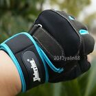 new202 Men Weight lifting Gym Gloves Training Fitness Wrist Wrap Exercise Sport