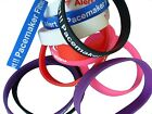 Pacemaker Fitted Patient  Silicone Medical Help WristBands 2 bands pack