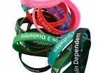 Type 2 Diabetes Insulin Dependent Patient  Silicone Medical WristBands 2 band pk
