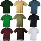 MENS PLAIN T-SHIRT LOOSE FIT 100% HEAVY COTTON GILDAN 11 COLOURS 5 SIZES TSHIRT