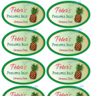 """10 OVAL Jelly Jam LABELS 3.25 x 2"""" Blank or Custom Canning Personalized stickers"""