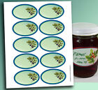 """10 OVAL Jelly Jam LABELS 3.25 x 2"""" Blank or Custom Canning 3 lines text 7 styles"""