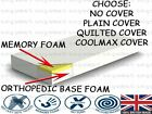 "10"" (7""+3"") Thick Memory Foam Mattress 5FT-3FT-4FT6 High Quality + Coolmax Cover"