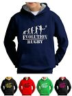 Rugby Hoodie Rugger Fan Evolution Sweatshirt Kit Jumper - Smartphone Compatable