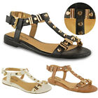 Women Aztec Gladiator Summer Beach Sandals Flip Flops Flat Shoes Size