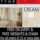 "From 99p Vertical blinds SLATS LOUVRES CREAM 3.5"" 5"" plain OR machine washable"