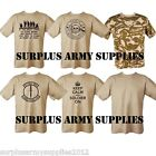 MILITARY T-SHIRT 100% COTTON SUPPORT TROOPS ARMY TALIBAN KEEP CALM SOLDIER CAMO