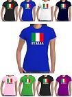 Italia T Shirt Flag of Italy World Cup Rugby Euro Football Ladies Top