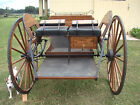 """Meadow brook horse cart w/hydraulic brakes,T stand, 84"""" flexi shafts, 50""""wheels"""