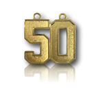 #50-69 Jersey Number Style Necklace Charm Pendant Gold Football Baseball Soccer