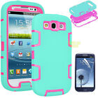 ARMOR SHOCKPROOF DEFENDER HARD CASE COVER SKIN FOR SAMSUNG GALAXY S3 S III I9300