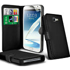 Samsung Galaxy Note 2 N7100  - Leather Wallet Case Cover + Free Screen Protector