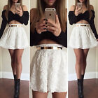 New Fashion Two Piece Sexy Bandage Crop Tops +Rose Skirt Set Summer Clubwear S~L