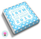 Personalised POLKA DOT 16th 18th 21st 30th 40th Birthday Party Favour Chocolates